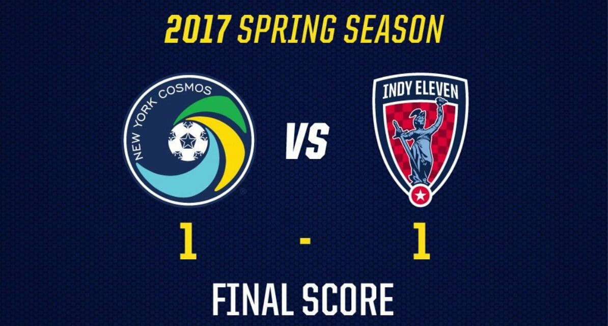 TYING YET ANOTHER ONE ON: Cosmos manage a home point on Ledesma's late PK