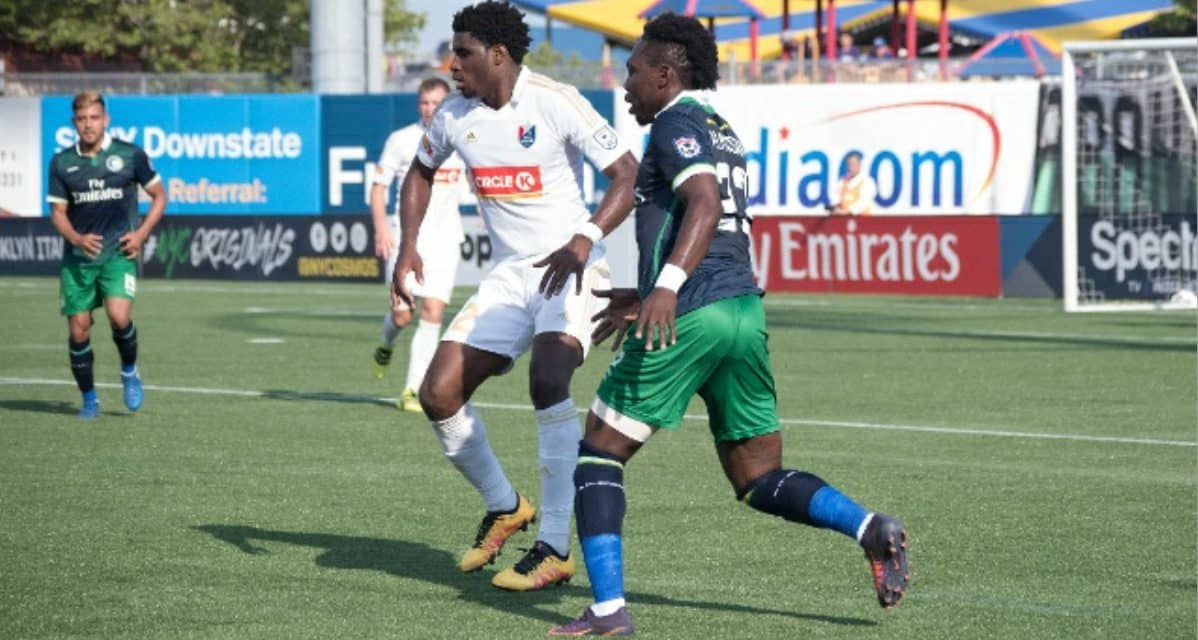 MUTUAL PARTING OF THE WAYS: Kalif Alhassan leaves the Cosmos