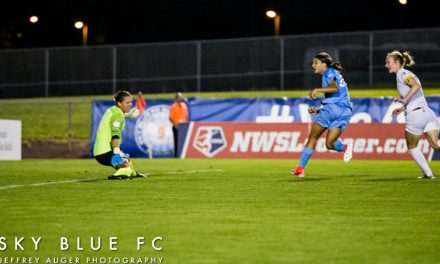 IT'S OLD HAT TO HER: Kerr's late hat-trick boosts Sky Blue to a 3-2 win over Kansas City
