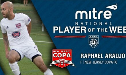 NPSL PLAYER OF THE WEEK: New Jersey Copa FC's Araujo (6 goals) is honored