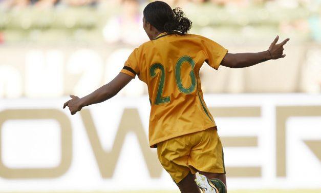 KERR STRIKES AGAIN: Sky Blue FC forward's goal, 2 assists lead Australia to Nations title