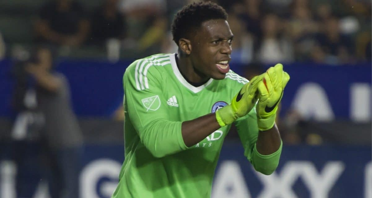 AT THE TOP OF HIS GAME: Johnson flies all over the box to save NYCFC