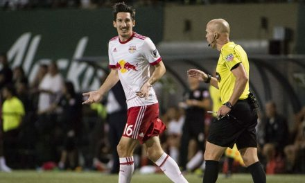 IN YELLOW PERIL: Red Bulls' Wright-Phillips, Kljestan, Felipe and Davis are a card away from a suspension
