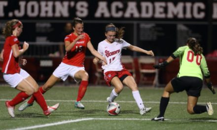 BREAKING SACRED HEART: St. John's women roll to 3-0 home victory