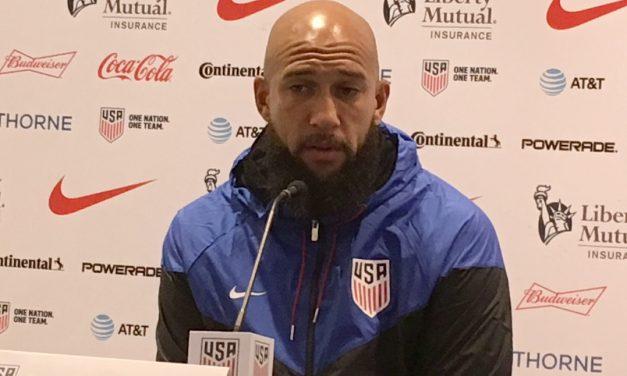 STANDING TALL: Howard impresses in MLS debut, standing in for Meola (1998)