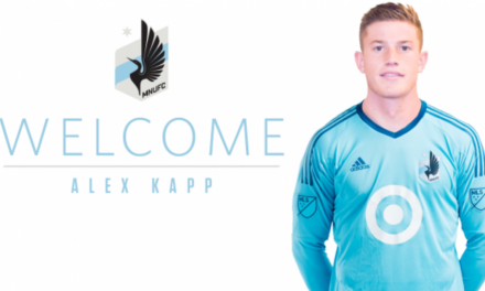 HE'S A KEEPER: Alex Kapp joins Minnesota United