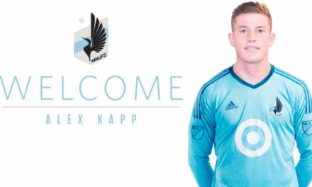 HE'S A KEEPER: Alex Kapp joins Minnesota United