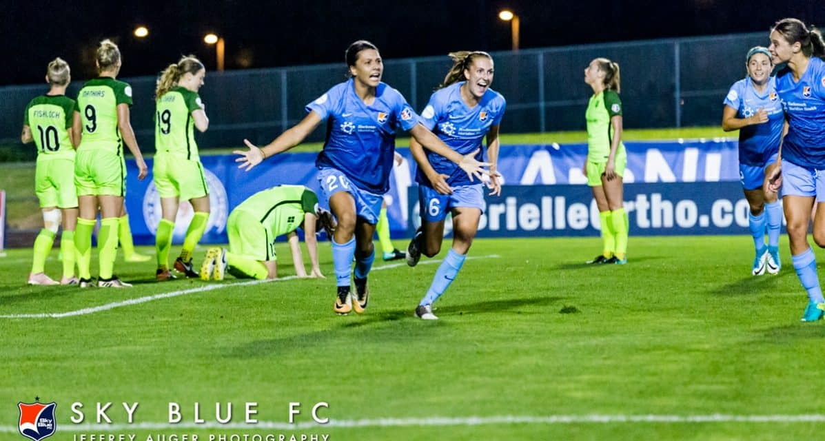 A PERFORMANCE FOR THE AGES: Kerr's 4th goal, in stoppage time, lifts Sky Blue to a 5-4 comeback win over Seattle
