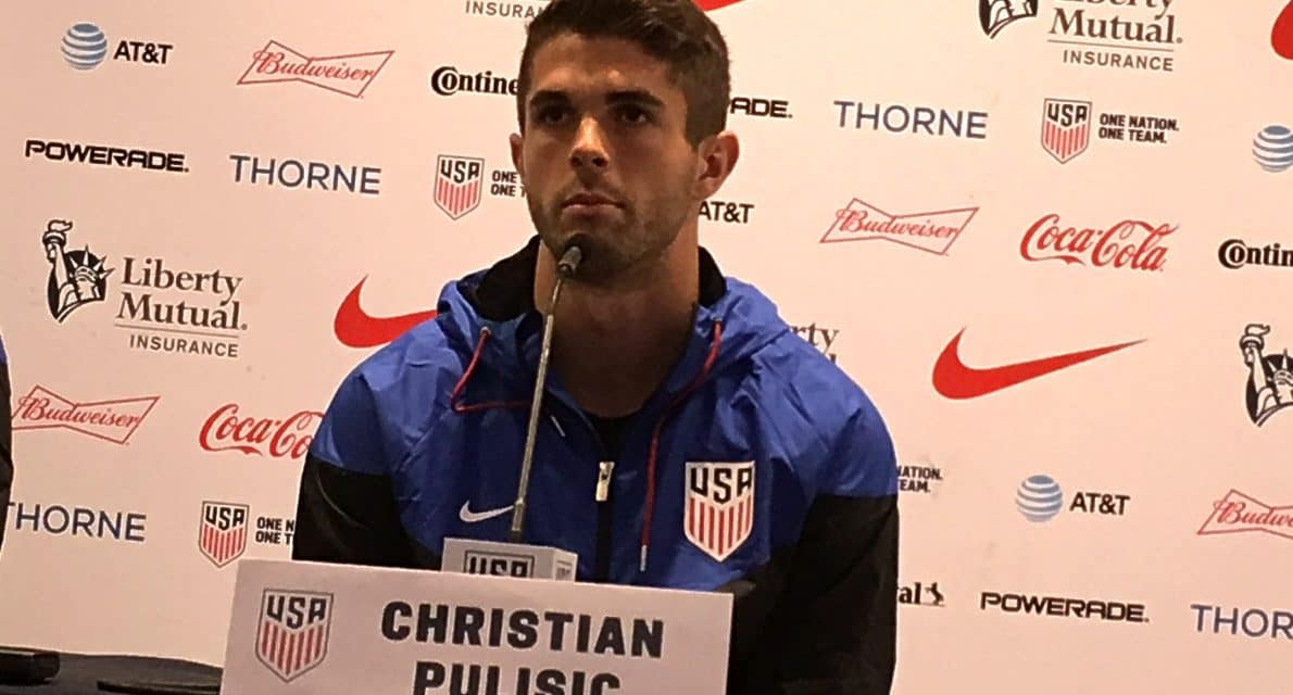 MAKING HIS DEBUT: Pulisic to play in Gold Cup for the first time