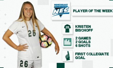 GETTING HER JUST DESSERTS: Wagner's Bischoff named NEC women's player of the week