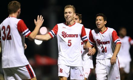 PACED BY A BRACE: Johnston's 2 goals power St. John's men over Santa Barbara
