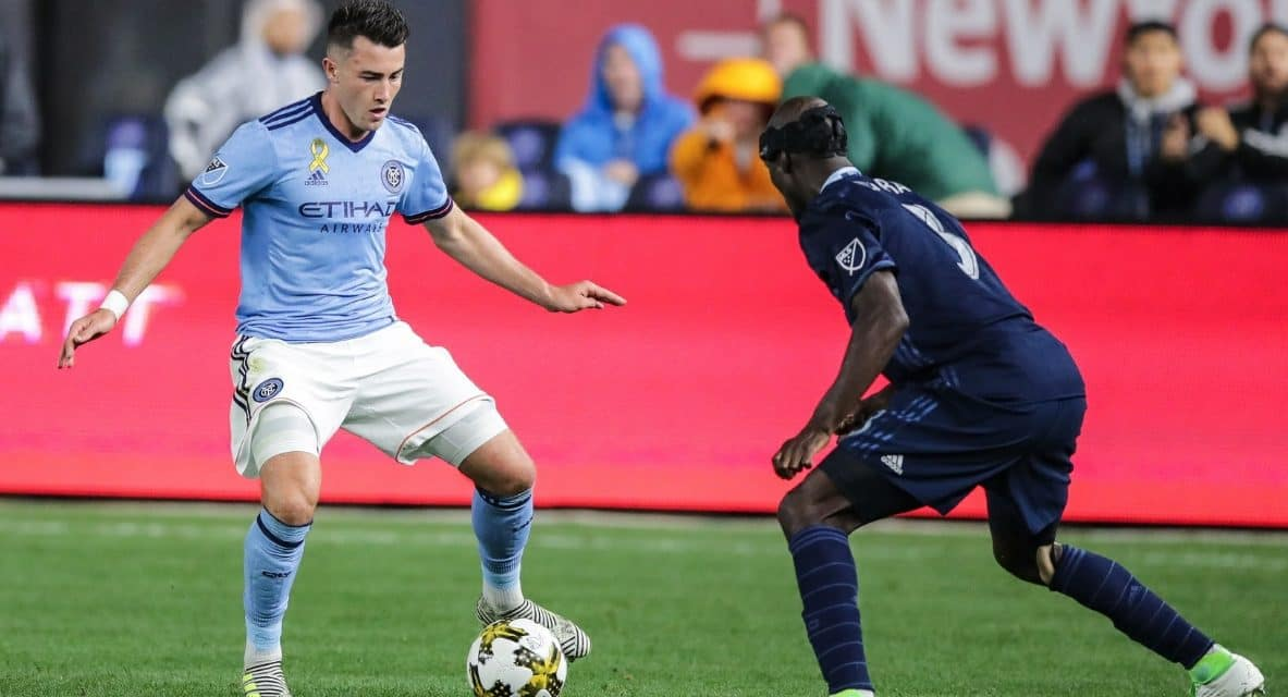 DOWN KEY PLAYERS, BUT CERTAINLY NOT OUT: NYCFC overcomes loss of stars with a 1-0 win over Sporting Kansas City