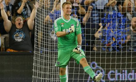 GRABBING THE OPPORTUNITY WITH BOTH HANDS: Patient Melia makes most out of his chance, becoming one of MLS' top keepers