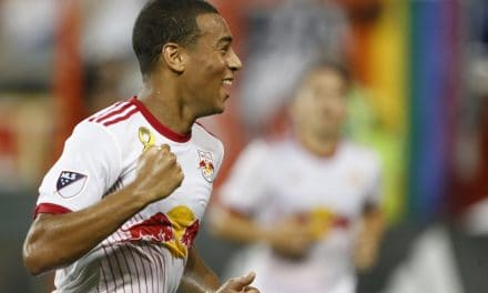 AND TYLER, TWO: 18-year-old one of the few bright spots for Red Bulls in tie