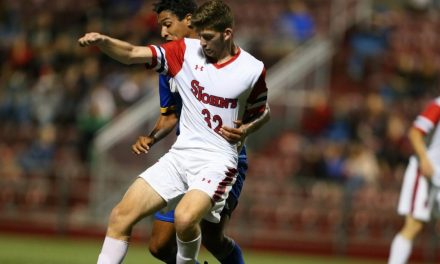 BRACE FOR IT: Shearer scores twice to power St. John's men 3-0