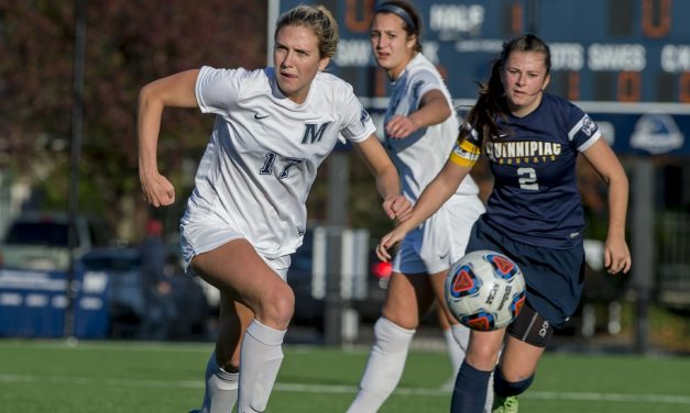 HEADER OF THE CLASS: Gibson's goal lifts Monmouth women to 1-0 win