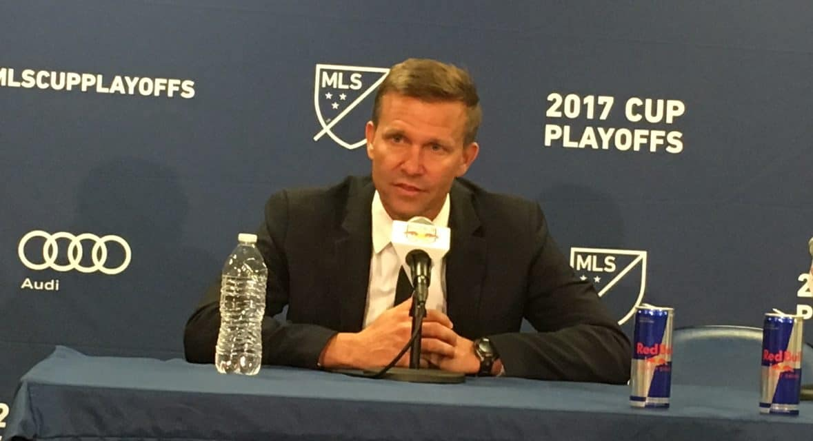 FORWARD, MARSCH: Red Bulls head coach speaks to media after big win