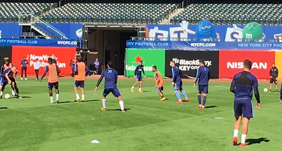 CITY AT CITI: NYCFC trains at Citi Field for Sunday's game