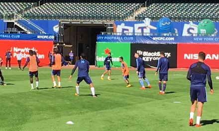 CITY AT CITI: NYCFC trains at Citi Field for Sunday's game
