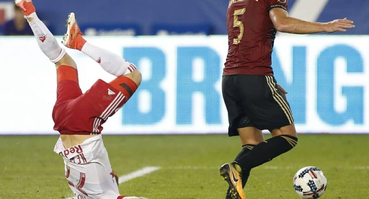 KICKING MAD OVER THE KICKING: Marsch complains about Atlanta's foul tactics