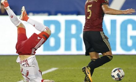 KICKING MAD OVER THE KICKING: Marsch complains about Atlanta's foul tactics