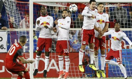 PAYING DEARLY ON A FREE KICK: Missed assignment breaks Red Bulls' backs