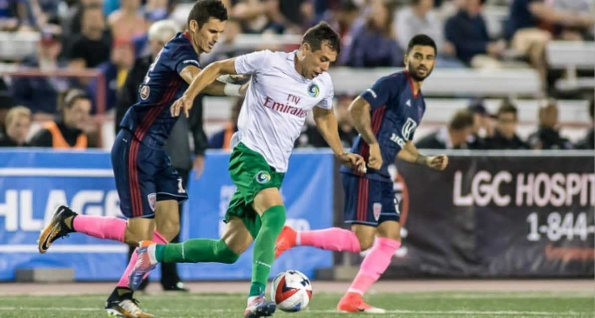 TYING ONE ON YET AGAIN: Cosmos rally twice to draw at Indy, 2-2