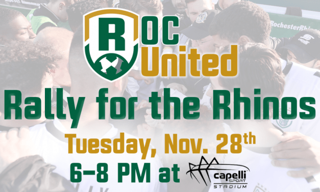 RALLY FOR THE RHINOS: At Capelli Sport Stadium Tuesday night
