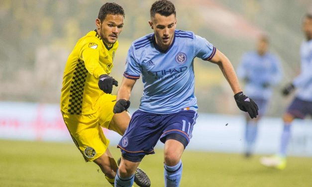 NOT GIVING UP: Vieira, Harrison believe, believe it or not, that NYCFC can turn it around despite 3-goal deficit