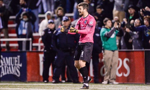THE GOOD HANDS MAN: Maurer saves his best performances when the games are on line