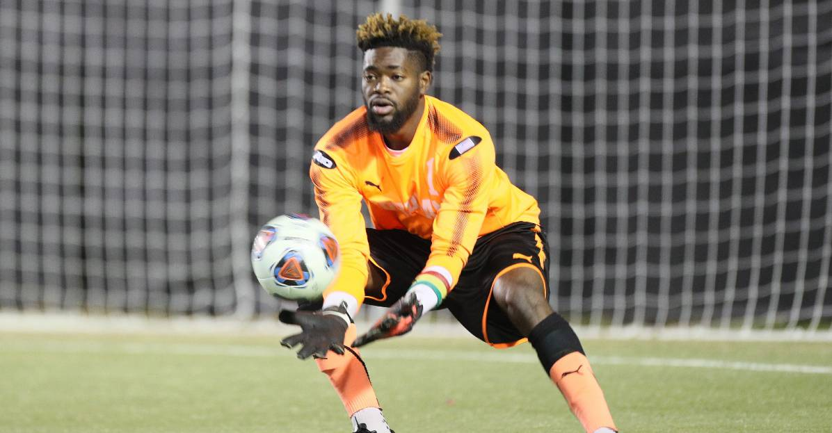 LIVING THE DREAM: Nuhu is doing it by making vital saves for Fordham in NCAA tournament
