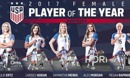 THEY'RE IN THE RUNNING: Ertz, Horan, Mewis, Morgan, Rapinoe up for U.S. Soccer Female Player of the Year