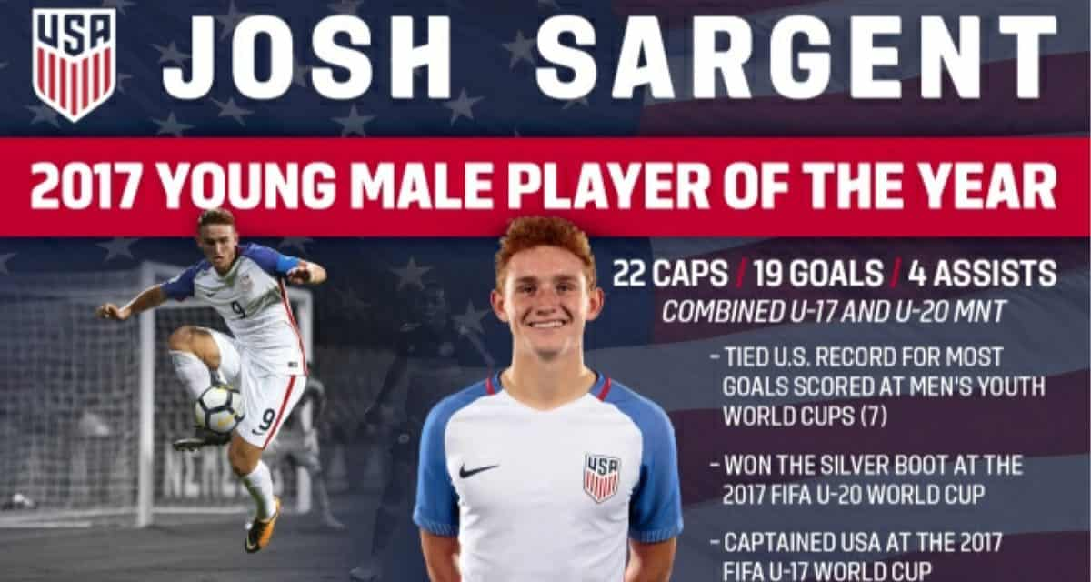 dfe2fe2f97e NOT JOSH-ING AROUND  Sargent named U.S. Soccer Young Male Player of the Year