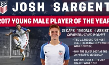 NOT JOSH-ING AROUND: Sargent named U.S. Soccer Young Male Player of the Year