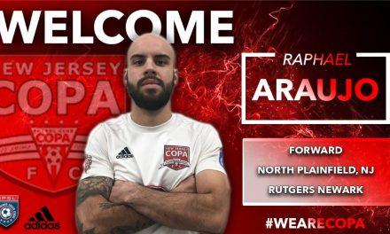 HE'S BACK FOR MORE: Araujo returns to New Jersey Copa FC