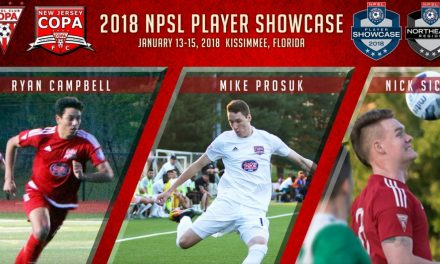 HEADING TO THE SHOWCASE: NJ Copa FC's Prosuk, Sica, Campbell named to NPSL Players Showcase team