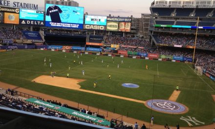 SHOULD NOT BE A PROBLEM: Most of protective netting will be removed for NYCFC games at stadium