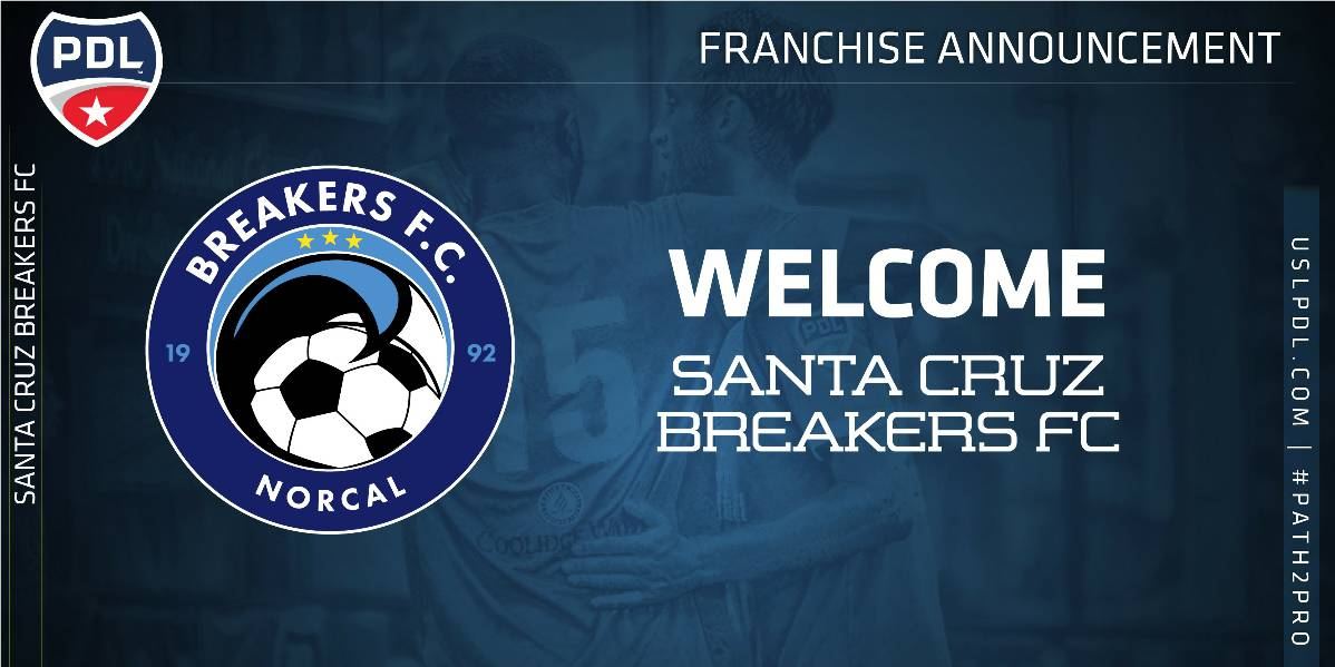 PDL ADDITION: Santa Cruz Breakers FC join the league