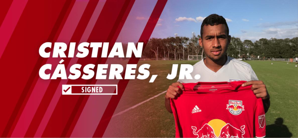TEEN ANGEL: Red Bulls sign Cásseres, Jr., 18