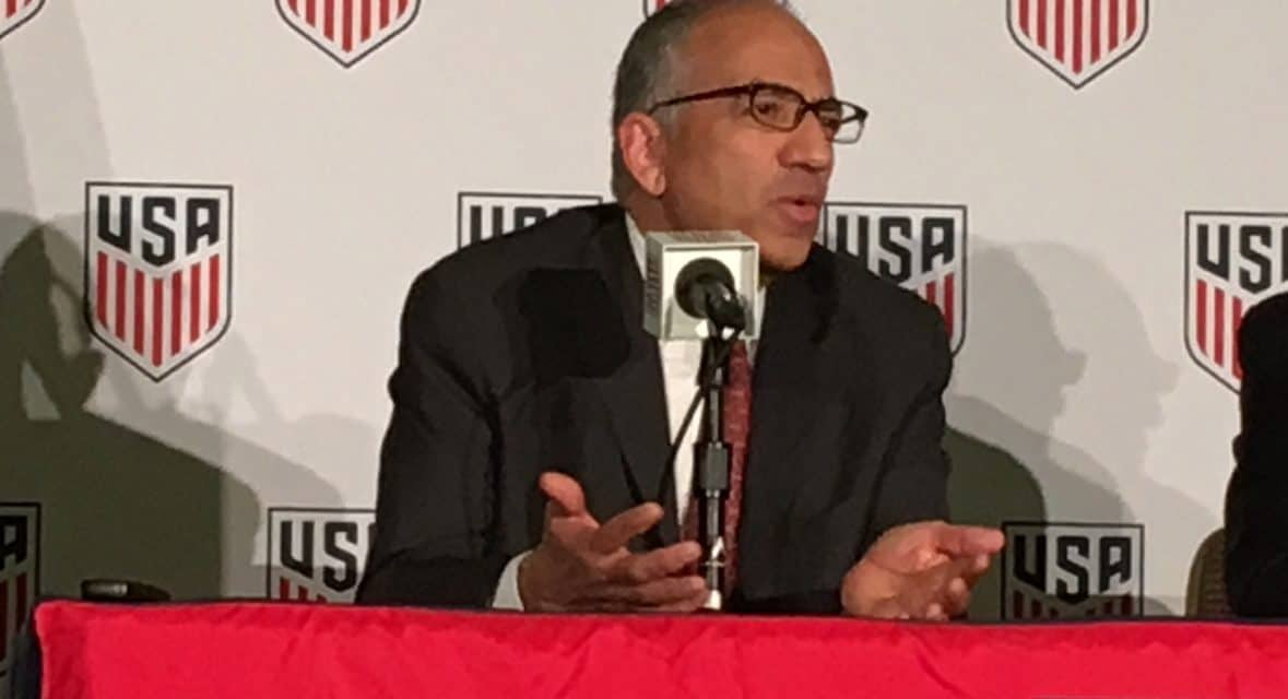 MEET THE PRESS: A snippet of Cordeiro's first press conference as USSF president