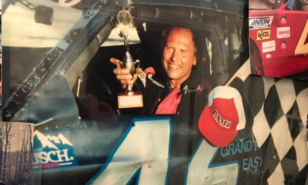LIFE IN THE FAST LANE: Hall of Fame inductee Dr. Joe Machink pursued stock car racing back in the day