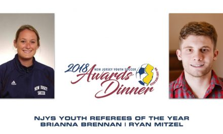 YOUNG REFEREES OF THE YEAR: NJ Youth Soccer honors Brennan, Mitzel