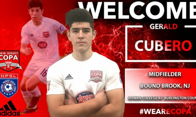 RE-UPPING: Cubero to return to NJ Copa FC