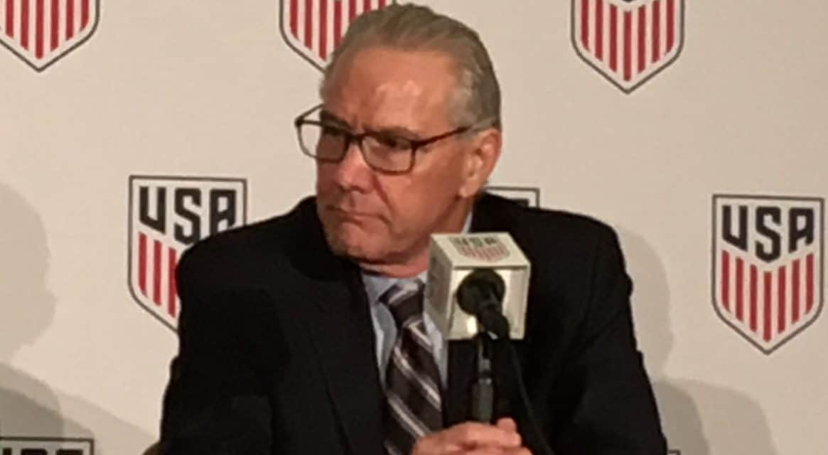 NO TIMELINE: But Flynn says hiring USMNT coach and GM for men and women a priority
