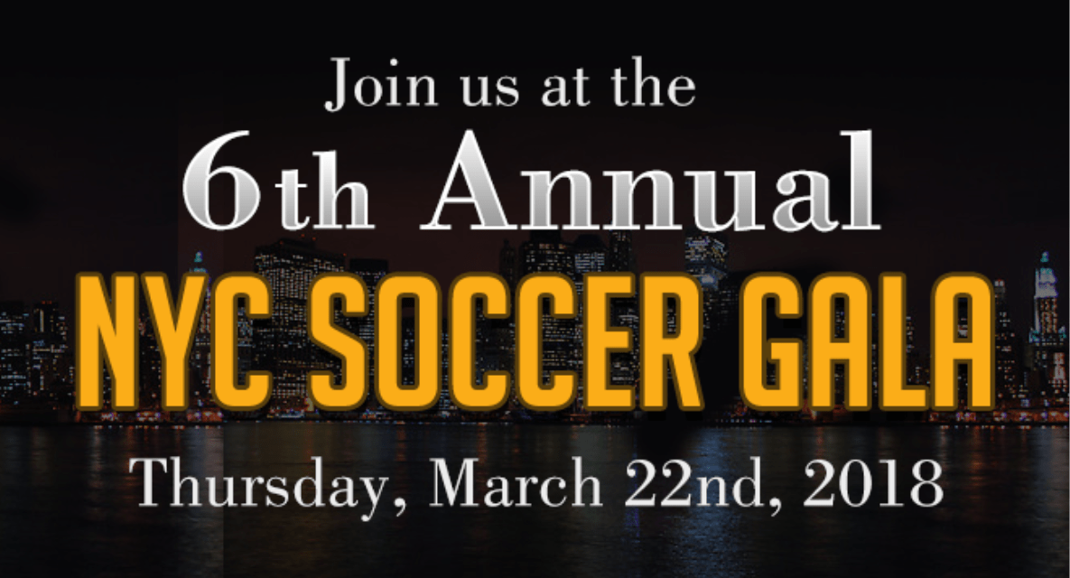 SEVEN HONORED MEN: At the New York City Soccer Gala March 22