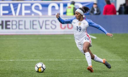 SOME WEDDING BELLS: Crystal Dunn is getting married