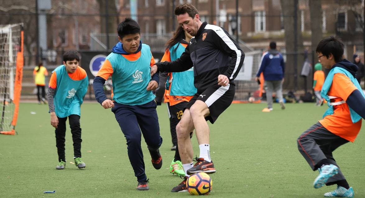 HOPING FOR MORE: After a fun Sunday, Fuchs hopes to connect with Street Soccer USA again