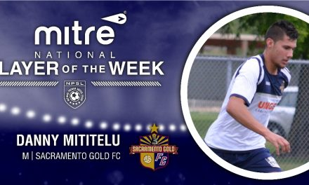 SOLID SACRAMENTO GOLD: Mititelu named NPSL player of the week
