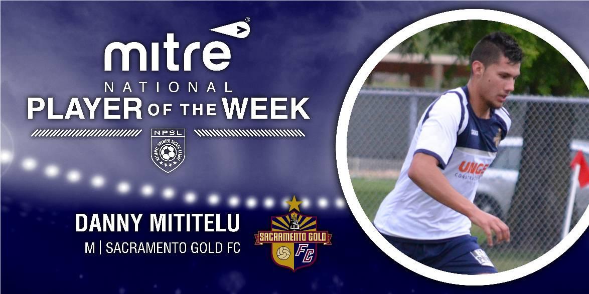 SOLID SACRAMENTO GOLD: Mititelu named NPSL player of the week