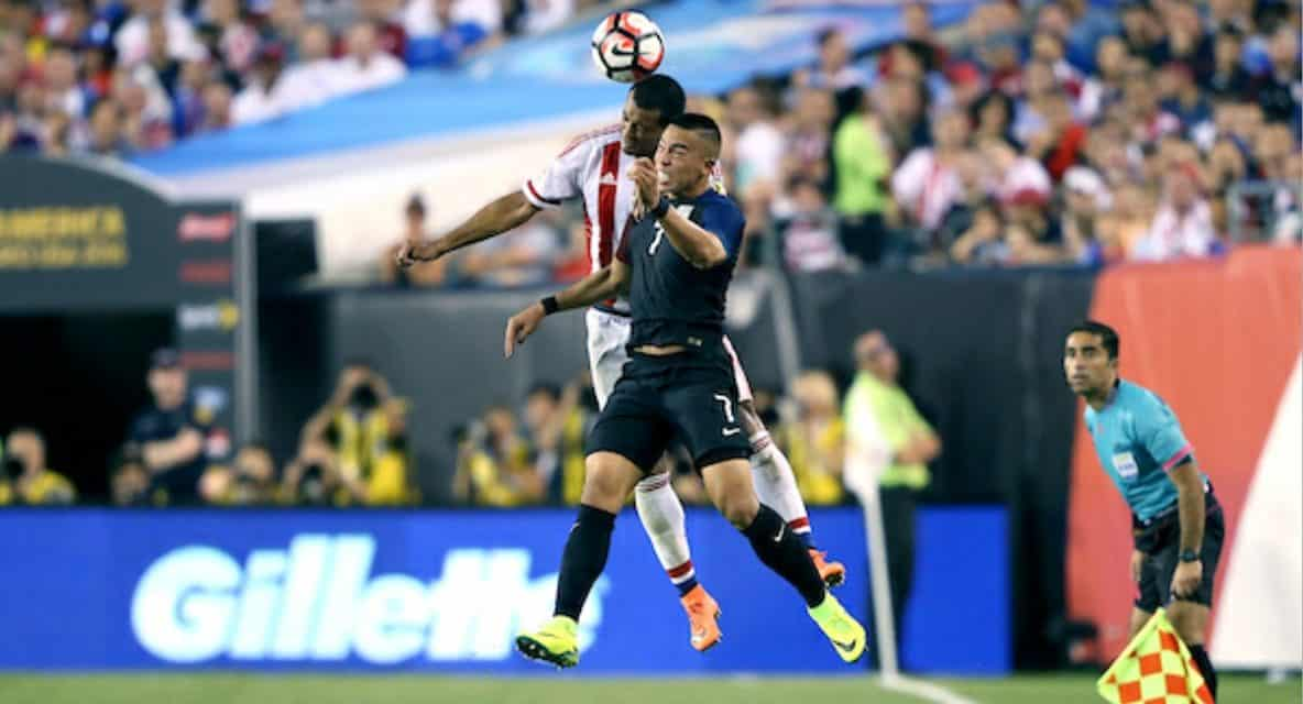 MAKING THEM PAY THE PENALTY: Wood converts PK as U.S. downs Paraguay, 1-0